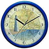 "Advance Quartz Decorative Wall Clock, 10"" LGHTHOUSE WALL CLOCK"