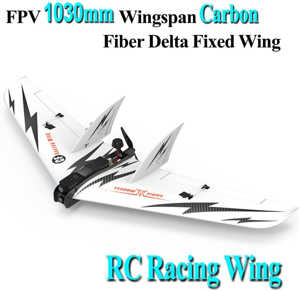 LITEBEE SonicModell CF Wing, FPV Flying Wing 1030mm Wingspan (EPP Molded, Carbon Fiber fuselageFPV Flywing) Super Violence RC Airplane Plane Wing --- PNP by (CF Wing): Amazon.es: Juguetes y juegos
