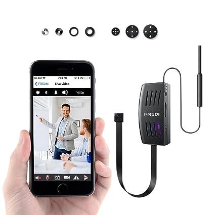 Cámara Espía, 1080p HD Cámara de vigilancia Mini Camera WiFi inalámbrico por Infrarrojos de Visión