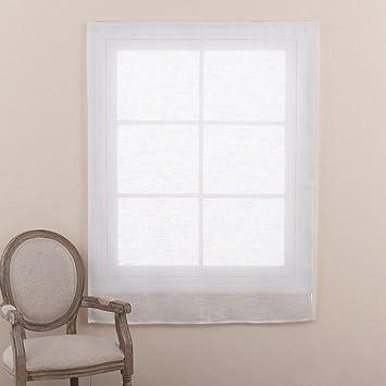 Cortinas y cortinas Cortinas transparentes Velcro Poliéster para Sala de alquiler Cuarto Paño de sombreado baño