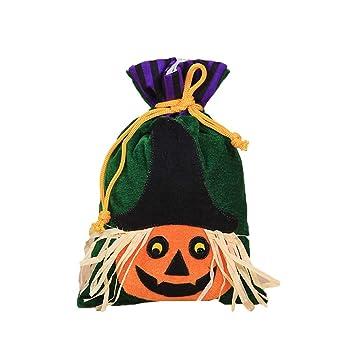 DERKOLY Dibujos Animados Parejita o - Sulfato de Terciopelo Toalla Caramelos Bolsa De Regalo Cordón Halloween Party Prop: Amazon.es: Hogar