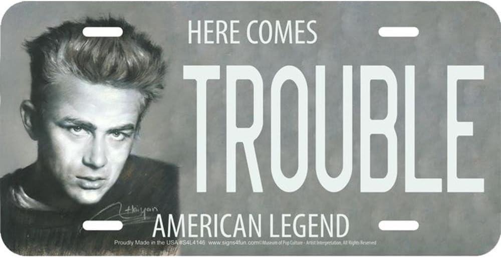 Signs 4 Fun S4L4146 Trouble - James Dean, License Plate
