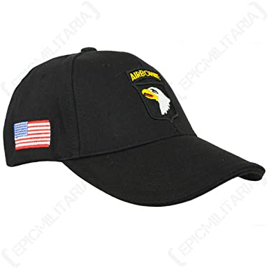 Black US 101st Airborne Baseball Cap  Amazon.co.uk  Clothing e83b74cab11d