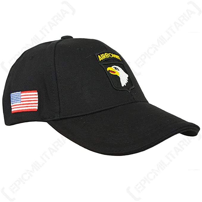 Image Unavailable. Image not available for. Color  Epic Black US 101st  Airborne Baseball Cap 3d21c950ea8