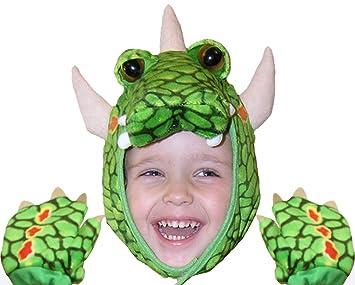 Agorà Import - Disfraz de dragón con Gorro y Manoplas: Amazon.es ...