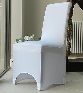 Covering All Occasions Housse de chaise pour salle à manger Arcade sur  l\'avant Blanc/noir/ivoire/beige