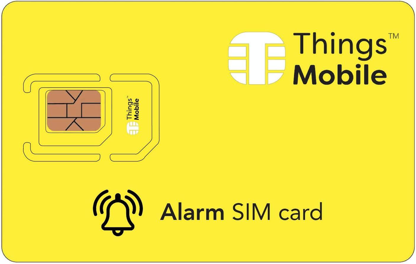 Tarjeta SIM para sistemas de alarma antirrobo - GSM / 2G / 3G / 4G - ideal para sistemas de alarma para uso doméstico e industrial con un crédito incluido de 10 €