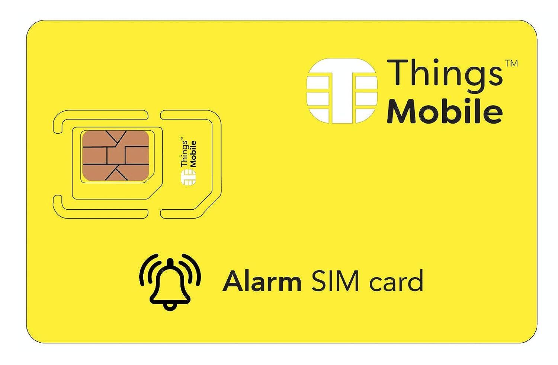 Tarjeta SIM para sistemas de alarma antirrobo - GSM / 2G / 3G / 4G - ideal para sistemas de alarma para uso doméstico e industrial con un crédito ...