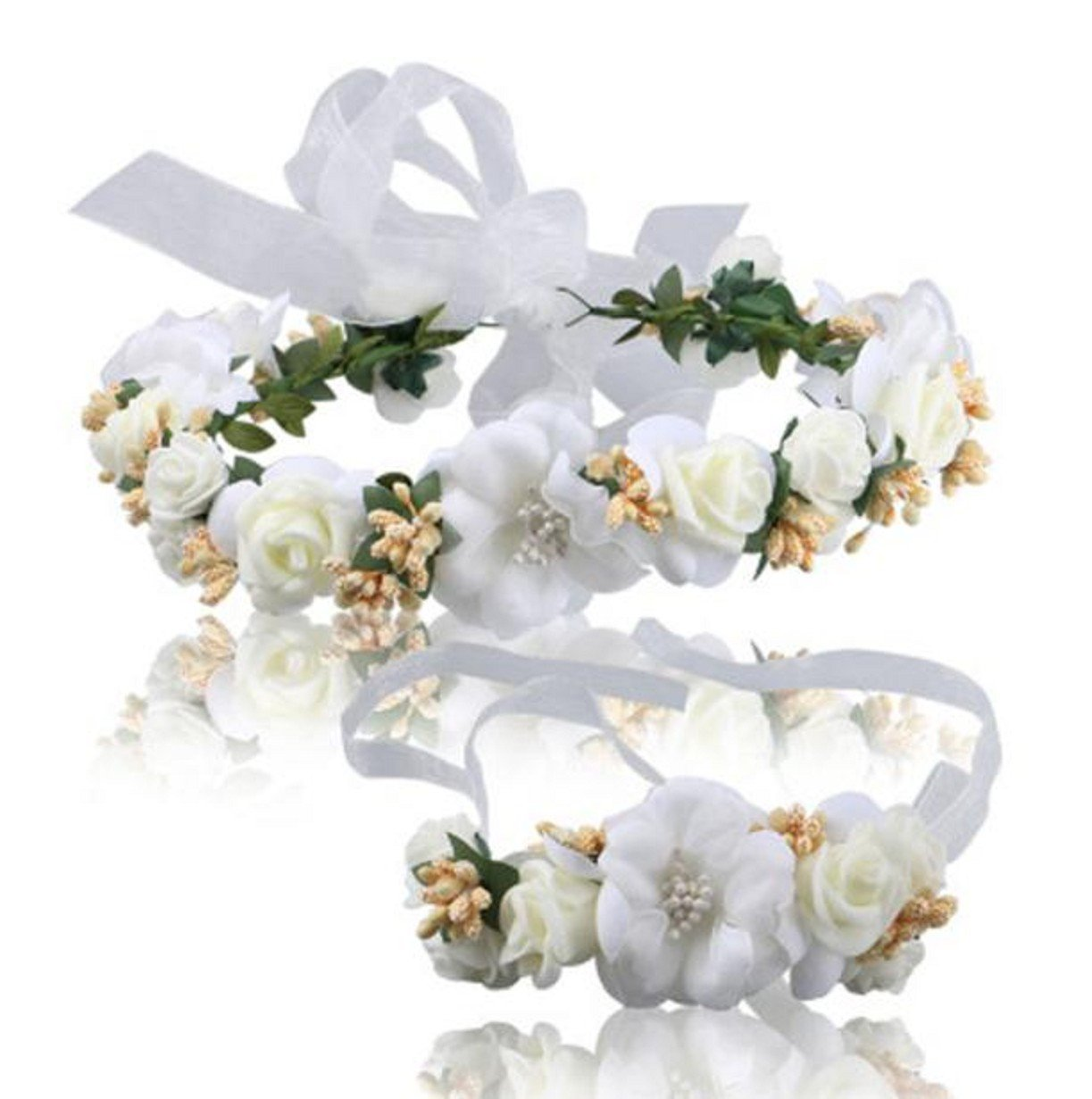Vovotrade Wedding Hair Accessories Wrist Flower Garland Seaside Holiday Pictures