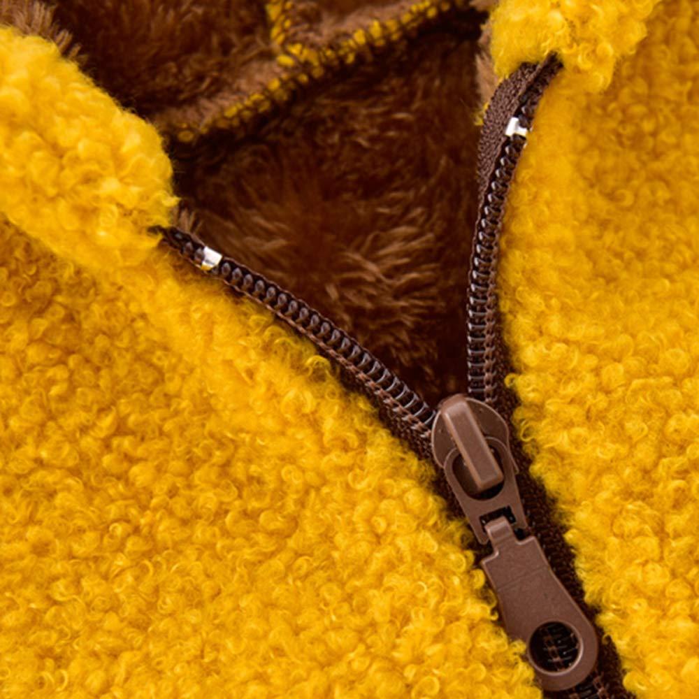 Baby Boys Girls Fleece Jacket with Hood Warm Hoodie Coat for Toddler Girl Outwear