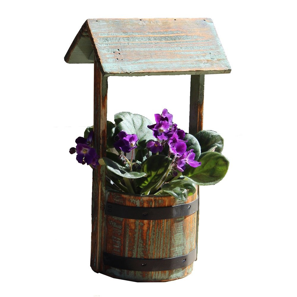 Vintiquewise Small Well Planter Vintique Wood QI003121