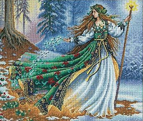 Dimensions Gold Collection Counted Cross Stitch Kit, Woodland Enchantress, 16 Count Dove Grey Aida, 14'' x 12''