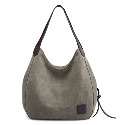 d524c6dc31 MIFXIN Lady Canvas Bag Simple Shoulder Bucket Tote Causal Fashion Large  Capacity Bag with PU Handle