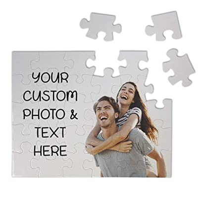 Jigsaw Puzzles for Adults & Kids Custon Personalized Photo & Text Hobbies Home Decor Wall Art Horizontal 30 Pcs: Toys & Games
