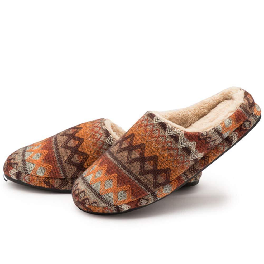 HAIMING Home Pantofole Cotone Scarpe Morbido Ciabatte Peluche Casa Pattini Pantofola Cotone- Scivola Silenziosa da Casa, Calda, Corta E Felpata (colore   Marrone, Dimensioni   44 45)