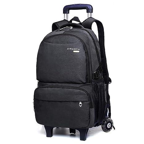YiAmg trolley extraíble escuela mochila bolsas de ruedas ...