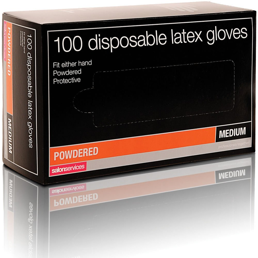Salon Services Disposable Latex Gloves 100 Pack Small