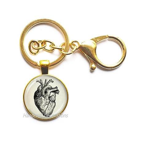 Amazon.com: Steampunk Jewelry Llavero anatómico de cerebro ...