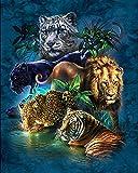 21secret 5D Diamond Diy Painting Full Drill Handmade Tiger Lion Leopard Catamount Cross Stitch Home Decor Embroidery Kit