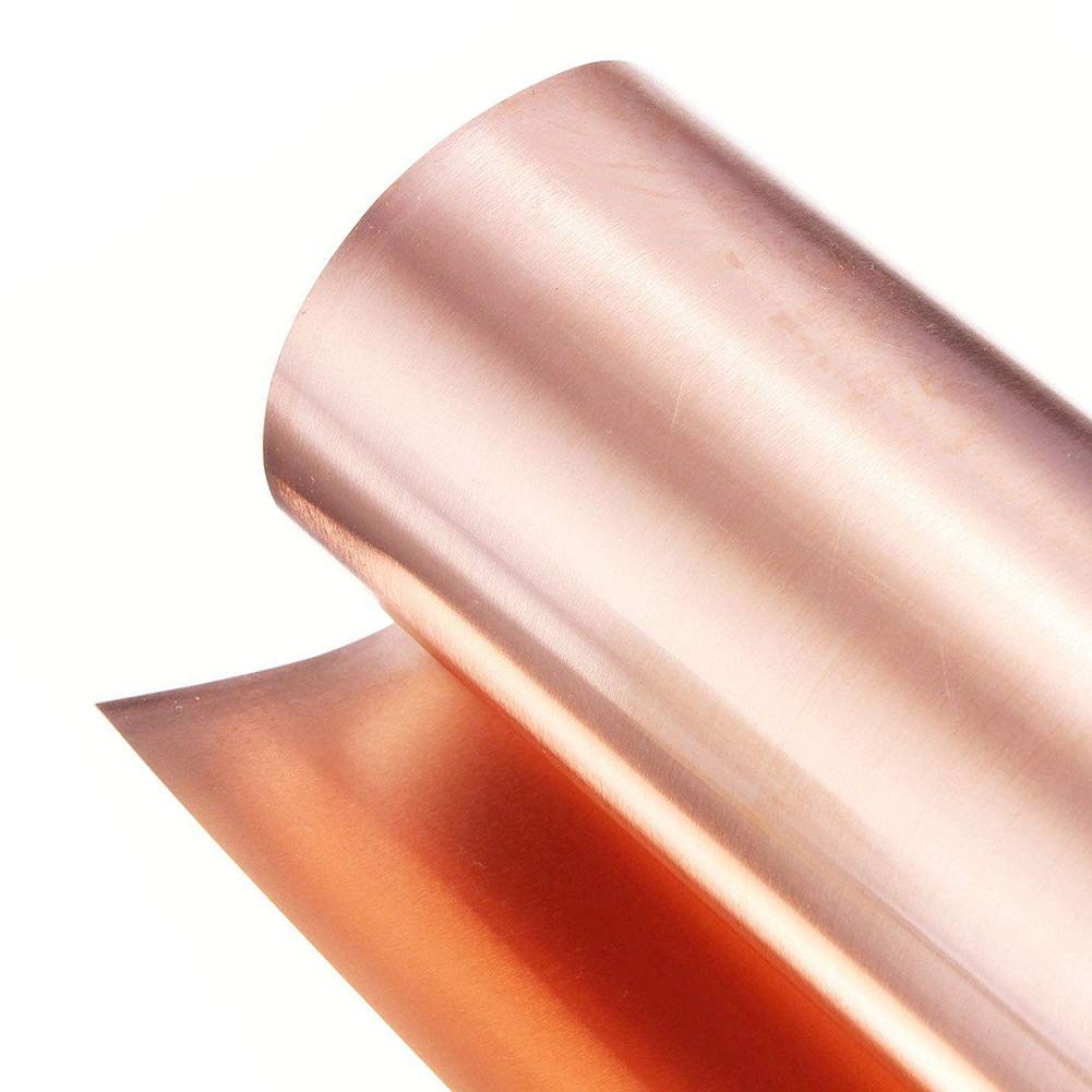 SOFIALXC 99.99% Pure Copper Metal Sheet for Handicraft Aerospace Width 200mm Long1000mm-thickness: 0.8 mm by SOFIALXC