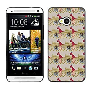 ZECASE Funda Carcasa Tapa Case Cover Para HTC One M7 No.0004821