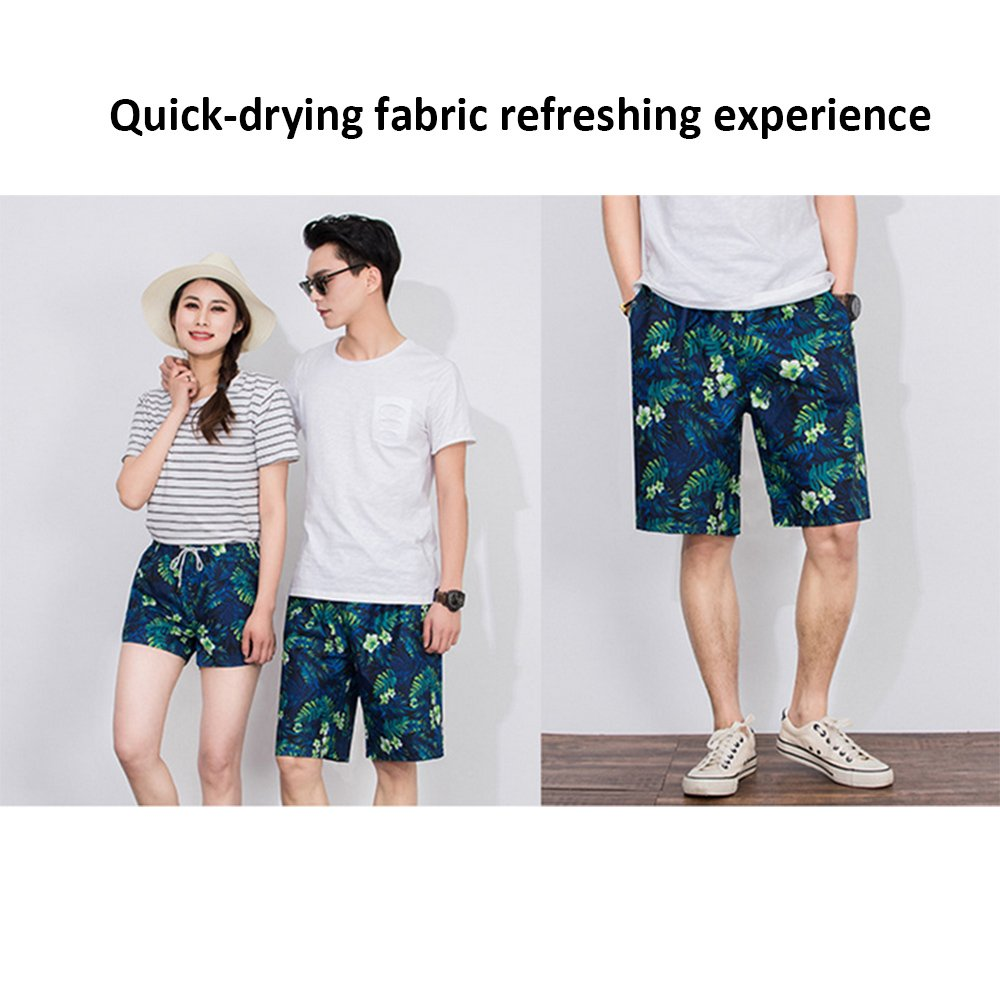 3690180e39 Hilai Printed Men Swim Shorts Fast Dry Swimming Trunks Adjustable Draw Cord  Beach Short Pants Internal Mesh Shorts Swim Pants- for Swimming, Summer  Beach ...