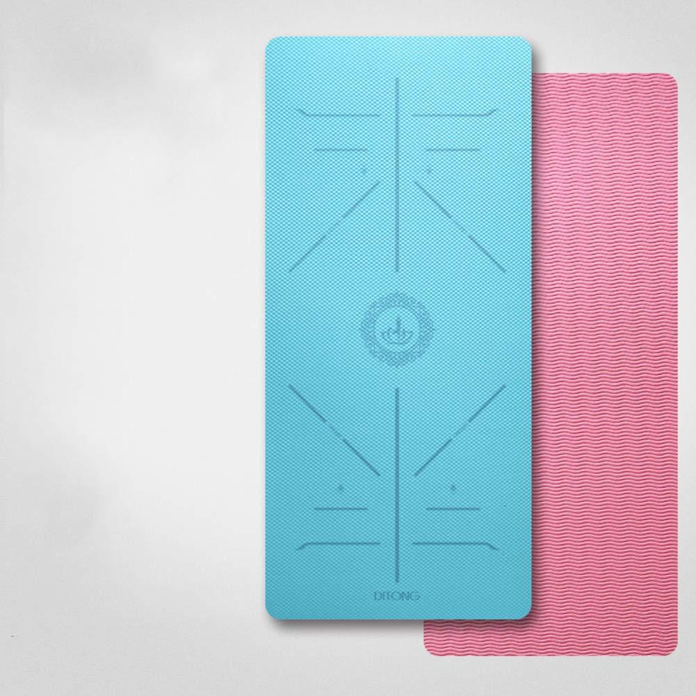 JILI Mehrfarbig Universell Einsetzbares Gymnastikmatte, High-Density Anti-riss Anti-Skid Für Yoga, Einzelne Seite Doppelseitige Pilates Matte, Leicht Zu Reinigen