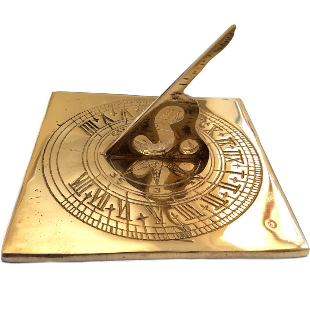 garden ornaments and accessories Square Compass Brass Sundial