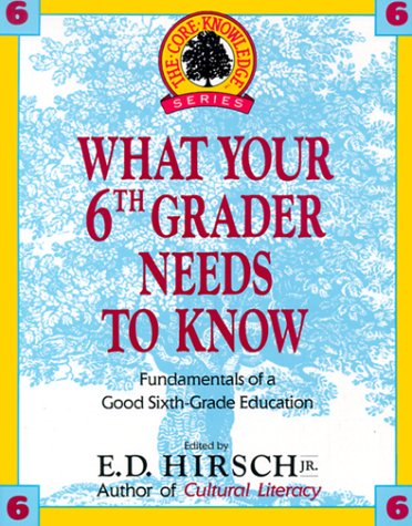 WHAT YOUR 6TH GRADER NEEDS TO KNOW (Core Knowledge Series)
