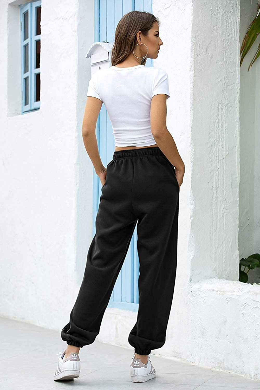 Women Joggers Yoga Sport Pants Hip Hop Casual Sweatpants Elastic Waist Trousers