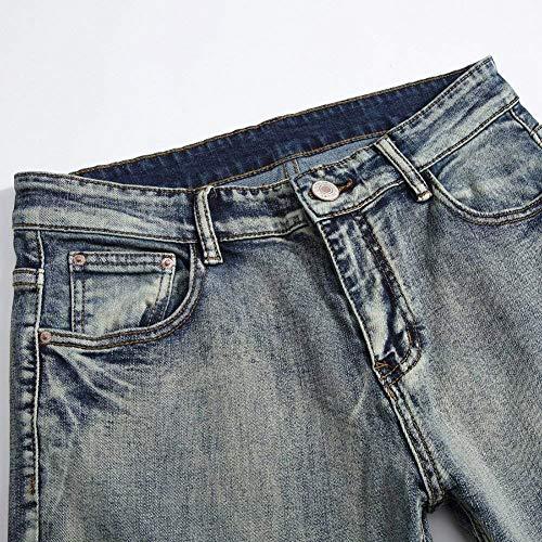 Pants Uomo Jeans Vestibilità Dritti Toppa Bobo Especial Slim Estilo Ricamo Per 88 Destroyed Vintage Hellblau Fashion Con A Denim 7Ewz6qw8