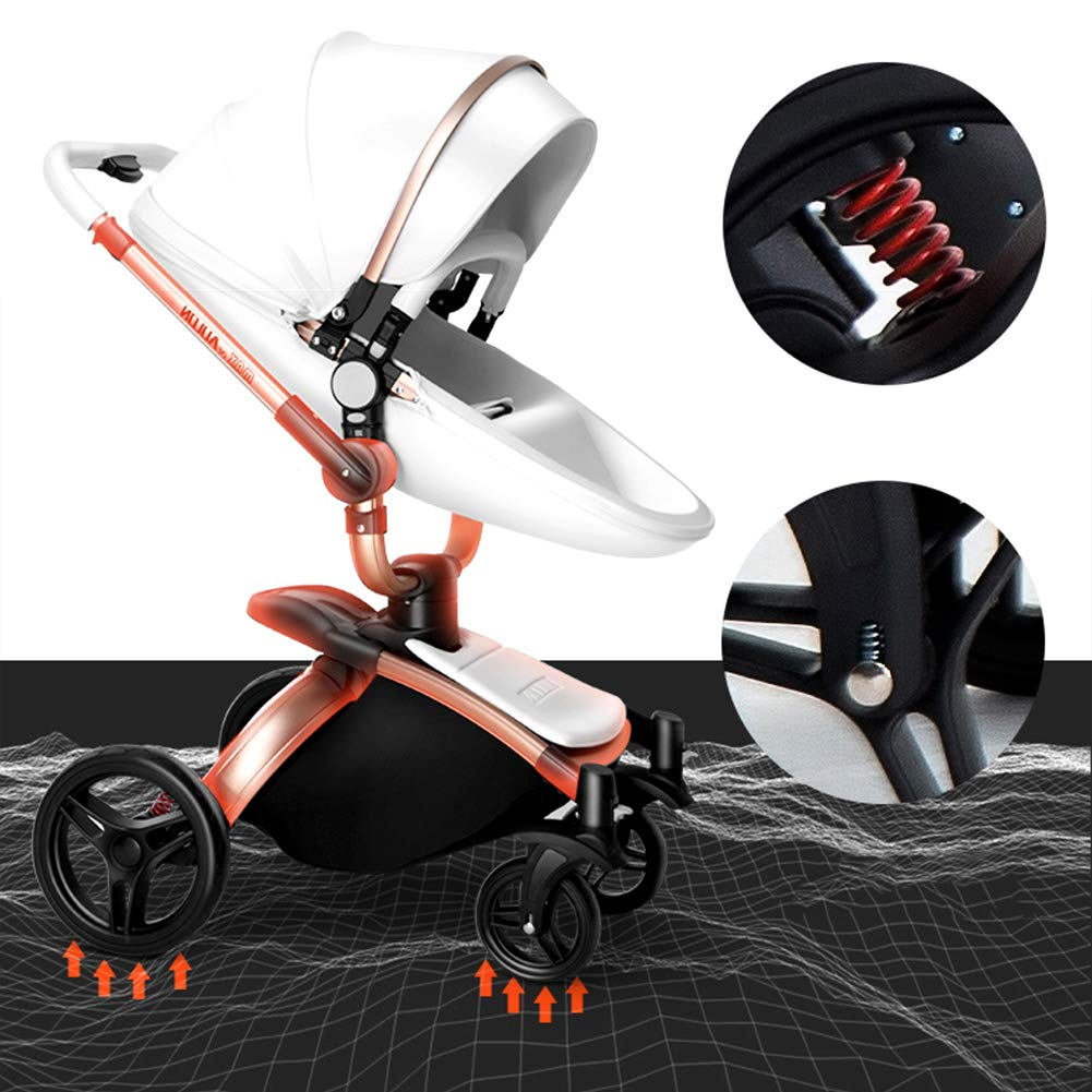 Amazon.com: SJZQ Cochecito de bebé con rotación de 360 ...