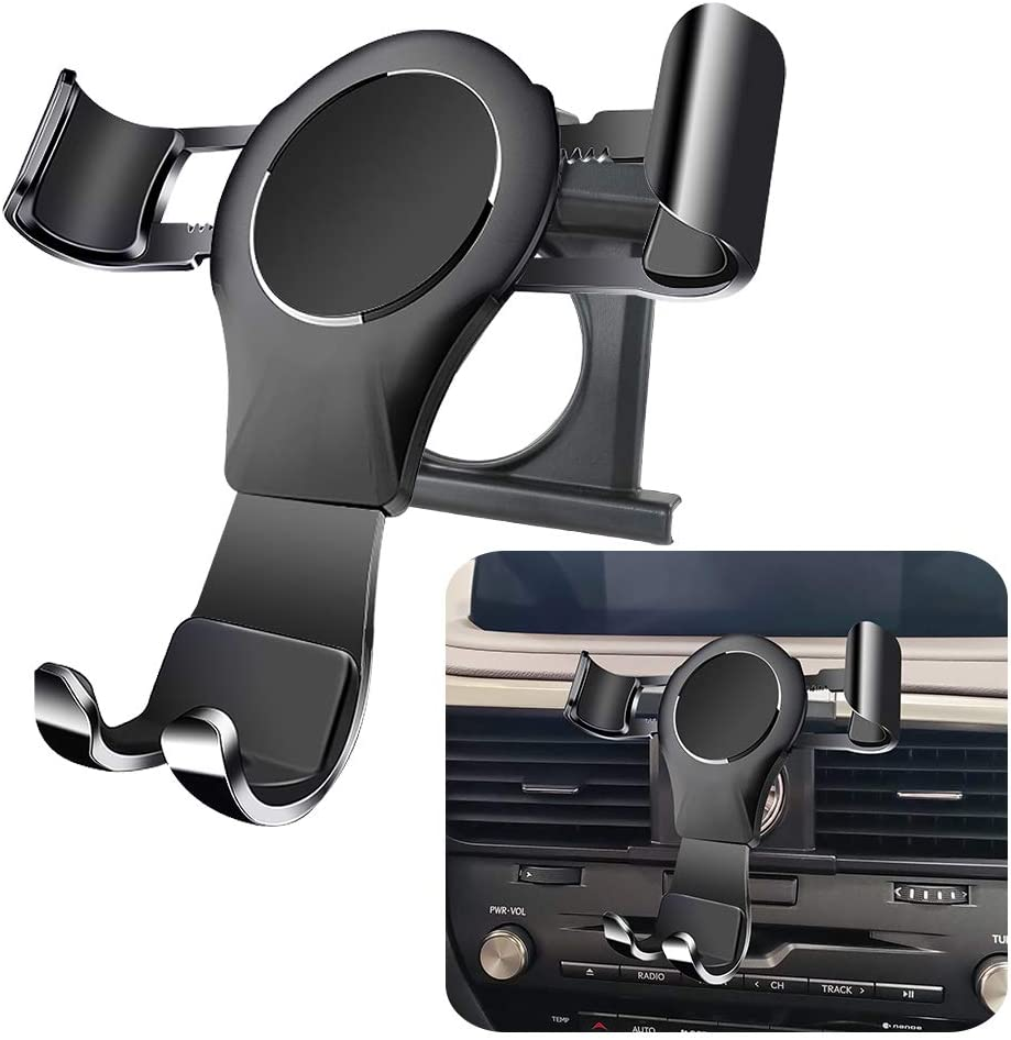 LUNQIN Car Phone Holder for Lexus RX 350 450h 2016-2020 350L 450hL 2018-2020 Auto Accessories Navigation Bracket Interior Decoration Mobile Cell Phone Mount