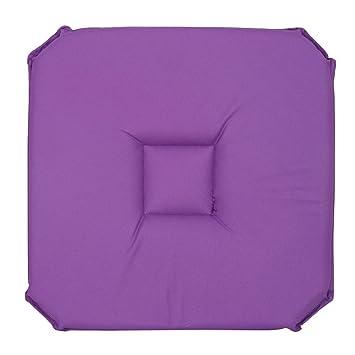 Amazon.com: Deconovo suave cuadrado silla cojín Pad: Home ...