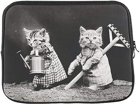 Funda Blanda para portátil de 15 Pulgadas con diseño de Gatos y Gatitos Vestidos: Amazon.es: Equipaje