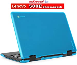 "mCover Hard Shell Case for 2018 11.6"" Lenovo 500E series 2-in-1 Chromebook Laptop (NOT fitting Lenovo N21 / N22 / N23 /100E / 300E / FLEX 11 Chromebook) (C500E AQUA)"