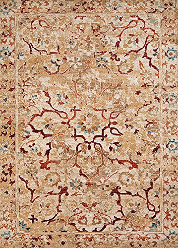 Designer Home Rover Area Rug 1501-21851 Coral Gables Chocolate Tree Coral 1' 11