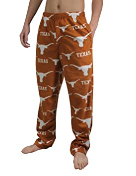 NCAA Texas Longhorns Mens/pantalones de pijama pijamas forro Polar Marrón marrón Talla:mediano