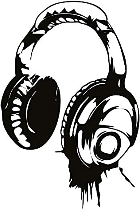 Headphones Tunes Art Decal Sticker Picture Poster Decorate Music Is My Life