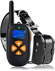 Rexway 2019 Upgraded Dog Training Collar with 1800ft Remote Control, IP67 Waterproof & Rechargeable | Beep/Vibration/Shock Modes | LED Indicator, E-Collar for Training Dogs