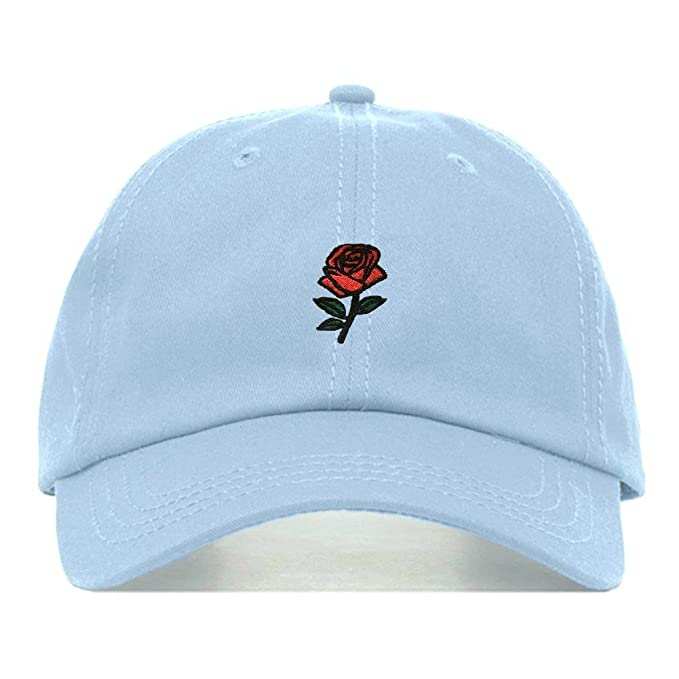 f4357e55 Rose Dad Hat, Embroidered Baseball Cap, 100% Cotton, Unstructured Low  Profile,