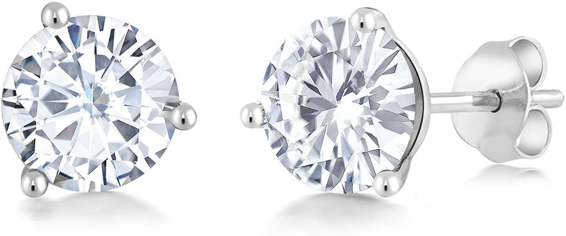 b7399e437 Charles & Colvard Forever Classic 6mm 1.60cttw DEW White Created Moissanite  14K White Gold Friction