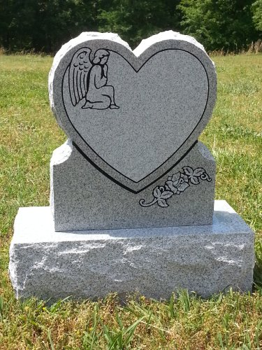 Heart Shaped Headstones Monument Cemetery Gravestones
