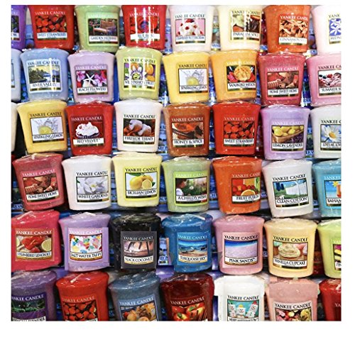 Yankee Candle Votives - Grab Bag of 10 Assorted Yankee Candle Votive Candles - Random Mixed Scents