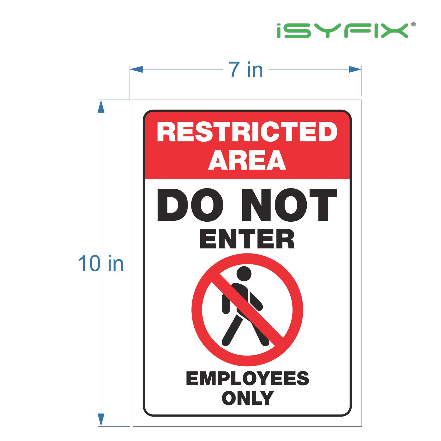 Restricted area do not enter employees only signs stickers 2 pack 7x10 inch premium self adhesive vinyl laminated for uv weather scratch