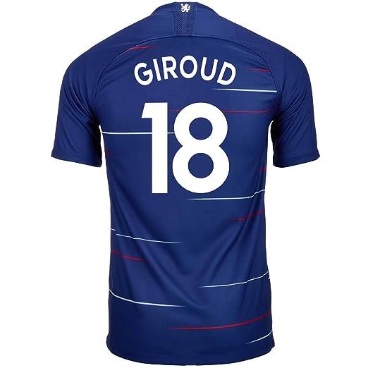 Amazon.com  Nike Giroud  18 Chelsea Home Soccer Youth Jersey 2018 19 ... 5f0b85687