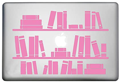 Bookshelf Library MacBook Sticker Decorative Decal is a Shelf Mac Pro  Decal  Laptop Sizes 11, 12, 13 and 15 inch  Looks Great with Your Shelf  Full of