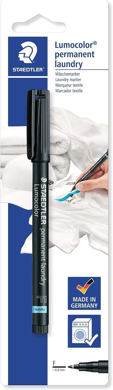 STAEDTLER lumocolor permanent laundry marker pen fine point black ink x 1 single by STAEDTLER