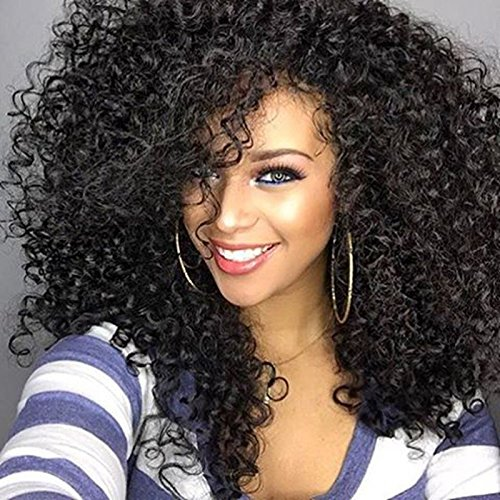 Amazon Com Curly Hair Wigs For Black Women Long Natural