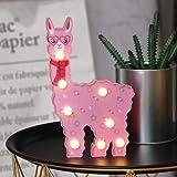 WHATOOK Llama Birthday Gifts Baby Llama Led Lamp